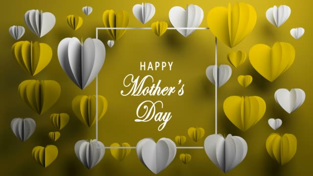 yellow happy mother's day background - mother's day stock videos & royalty-free footage