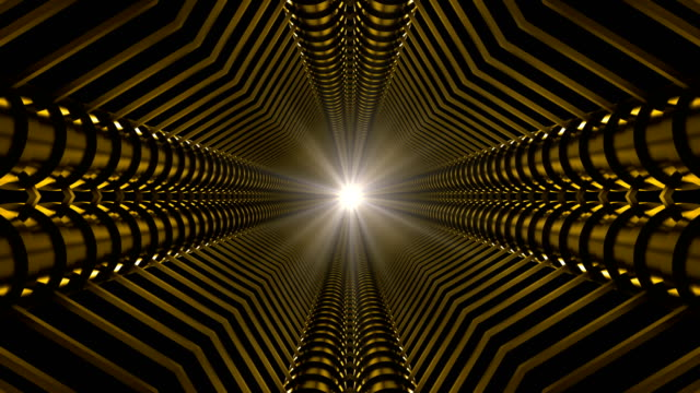 gelbe infinity tunnel - künstlerische darbietungen stock-videos und b-roll-filmmaterial