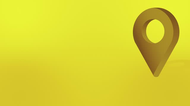 gelbes pin pin pointer animiertes cartoon-symbol - wegweiser stock-videos und b-roll-filmmaterial