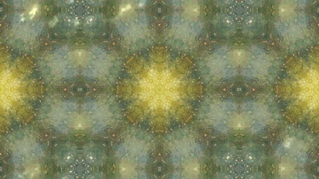 Gelbe mandala motion Grafik loop