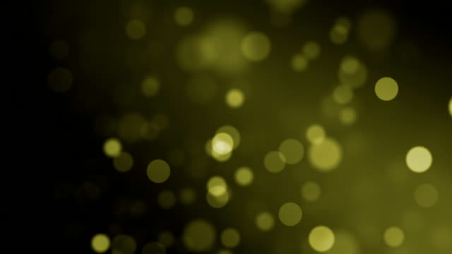yellow particles (loopable) - transparant stock videos & royalty-free footage