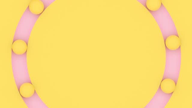 yellow pink circle rotating - stilleben bildbanksvideor och videomaterial från bakom kulisserna