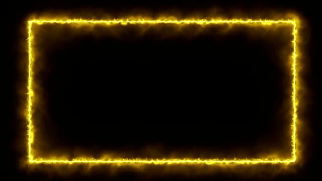 Gele rook - brand / energie Style Frame