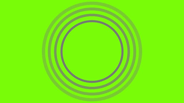 4k yellow sonar circle loopable with green screen - wave pattern stock videos & royalty-free footage