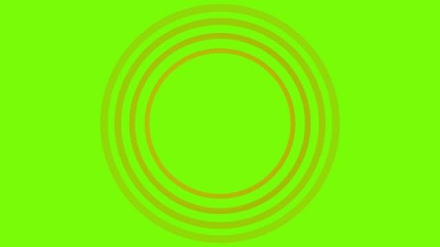 4k yellow sonar circle loopable with green screen - pin stock videos & royalty-free footage