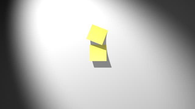 yellow sticky notes falling down - to do list stock videos & royalty-free footage