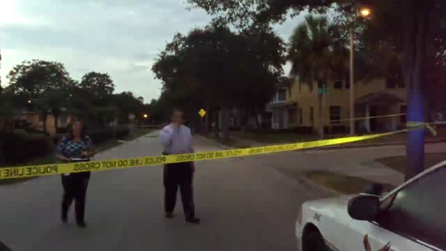 Yellow tape around the scene where a 17 year old was shot by an 18 year old