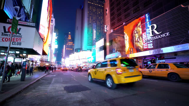 yellow taxi. manhattan center - yellow taxi stock videos & royalty-free footage