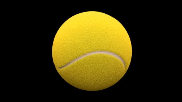 vídeos y material grabado en eventos de stock de amarillo bola de tenis giratorio de pantalla completa - rotar