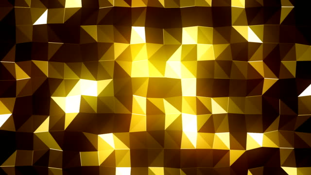 yellow triangles background (loopable) - yellow background stock videos & royalty-free footage