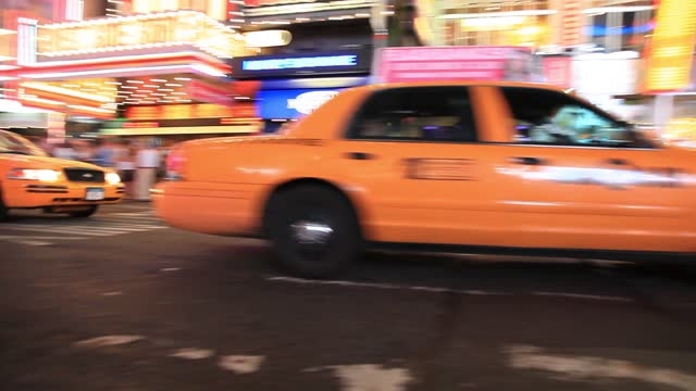 yellow txis in new york traffic life in motion in manhatan i typical yellow city life taxi - midtown manhattan stock videos & royalty-free footage