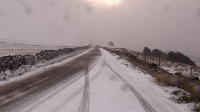 Yellow warnings for snow and ice are in place across much of Scotland Northern Ireland northern England and Wales Footage of the snow hitting the...