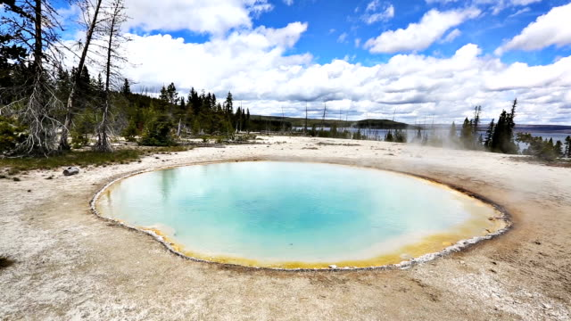 yellowstone national park geyser - river yellowstone stock videos & royalty-free footage