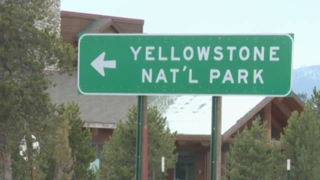 ktxl yellowstone national park - parco nazionale di yellowstone video stock e b–roll