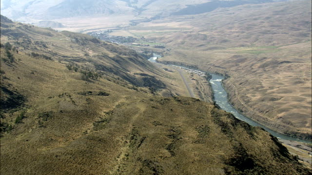Yellowstone River Near Gardiner  - Aerial View - Montana, Park County, United States