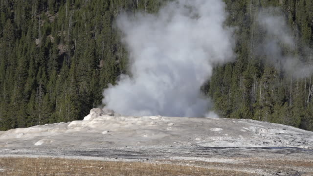 yellowstone start of old faithful eruption - old faithful stock videos & royalty-free footage
