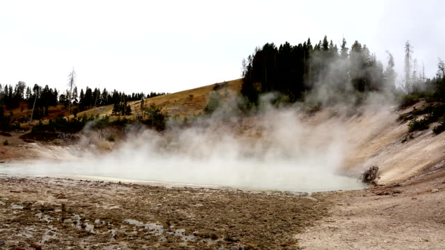 Yellowstone Sulfur and Steam Pond