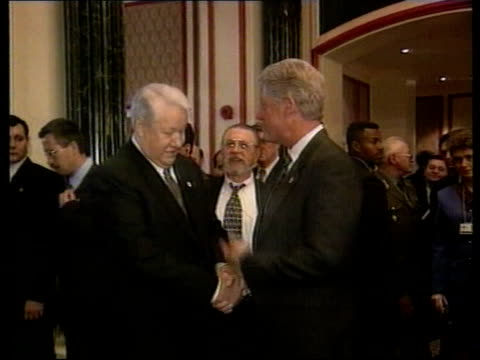 yeltsin admitted to hospital lib yeltsin along with granddaughter and others during previous stay in hospital istanbul int yeltsin meeting with us... - wladimir putin stock-videos und b-roll-filmmaterial