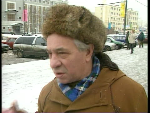 yeltsin resigns as president; moscow: vox pops sot - boris yeltsin stock videos & royalty-free footage