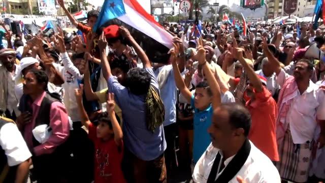 yemen aden pro south yemen independnce rally - aden stock videos & royalty-free footage
