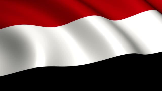 yemen flag loopable - yemen stock videos & royalty-free footage