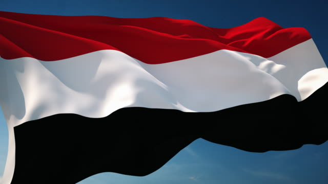 4k yemen flag - loopable - yemen stock videos & royalty-free footage