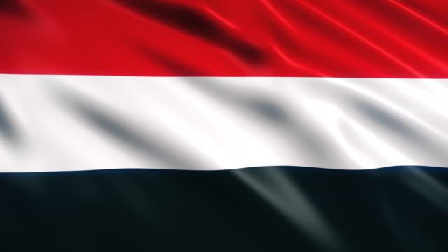 イエメンの旗 - 美術工芸品点の映像素材/bロール