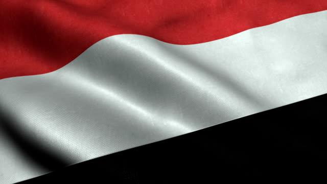 yemen flag - yemen stock videos and b-roll footage