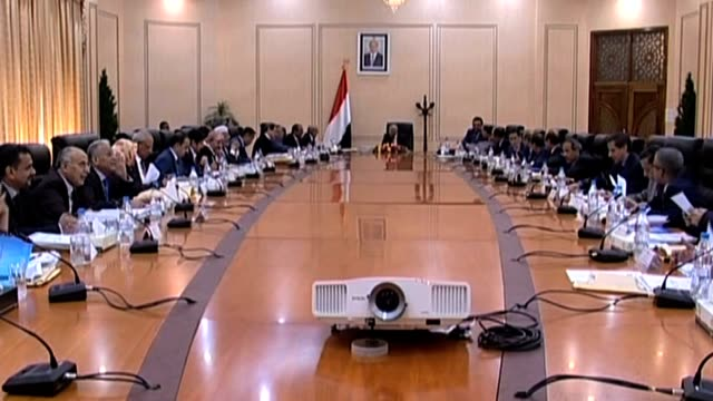 yemen government reshuffle crisis - cabinet member stock videos & royalty-free footage