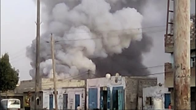 yemen hudaida explosion - yemen stock videos & royalty-free footage