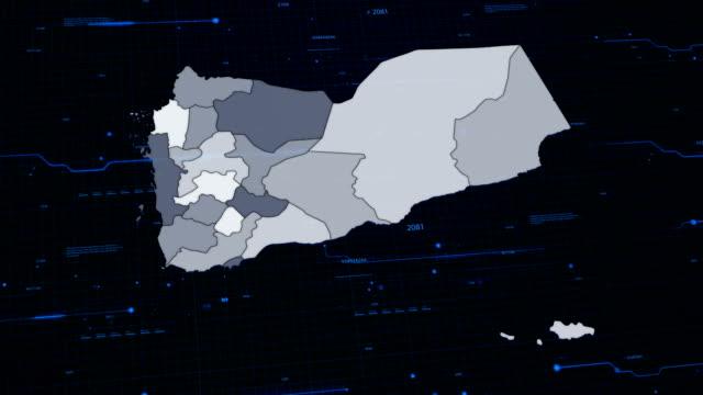 Jemen Netzwerk-Karte