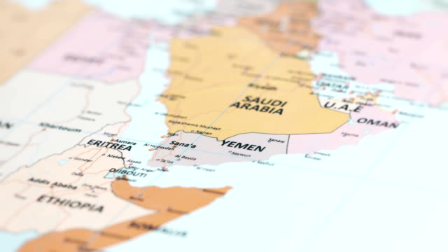 Asia Yemen On World Map Stock Footage Video Getty Images