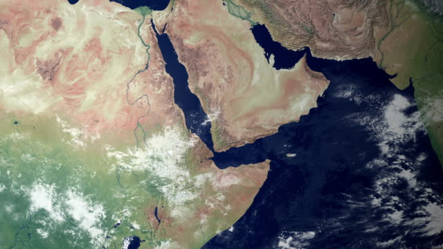 Jemen poppt nach Erde zoom (mit alpha-matte)