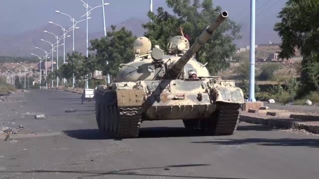 yemeni government forces hit houthi positions in taiz yemen on october 30 2017 - yemen stock videos & royalty-free footage