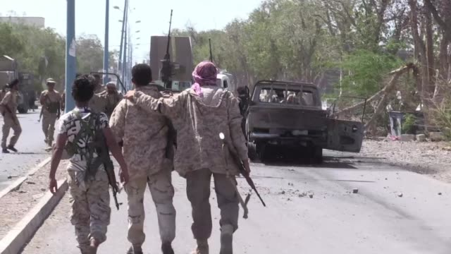 yemeni government forces took full control of the red sea coastal town of mokha on friday after weeks of deadly fighting with shiite rebels and their... - spokesman stock videos and b-roll footage