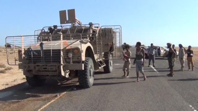 yemeni loyalist fighters were progressing north on saturday towards the coastal city of mocha on the red sea near the strategic bab al mandab strait... - mocha stock videos and b-roll footage