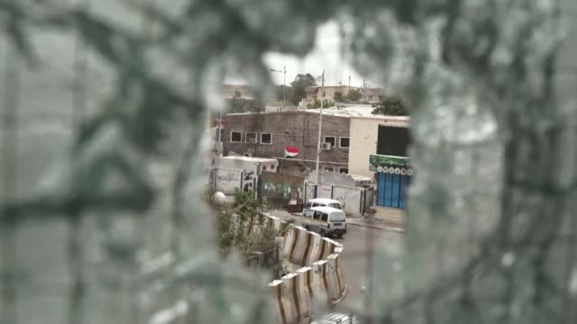 yemeni woman azba al-amiri shows the destruction in her house in the district of crater which has been damaged for the second time by the fighting in... - weaponry stock videos & royalty-free footage