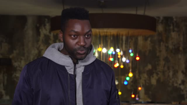 yemi bamiro, director, on showing his michael jordan documentary, one man and his shoes, at the bfi london film festival in person. on october 16,... - one man only stock videos & royalty-free footage