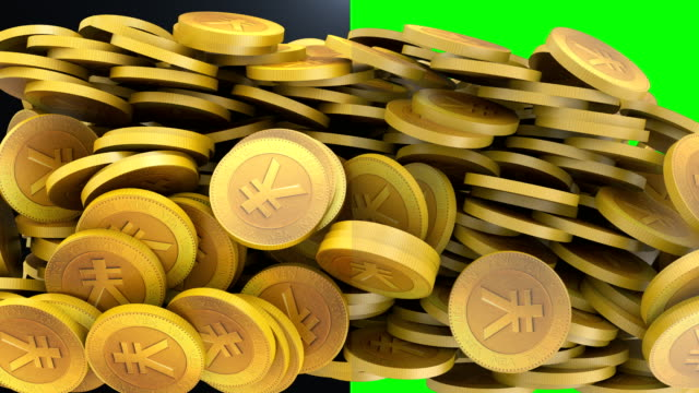 yen coin loop-able - yen sign stock videos & royalty-free footage