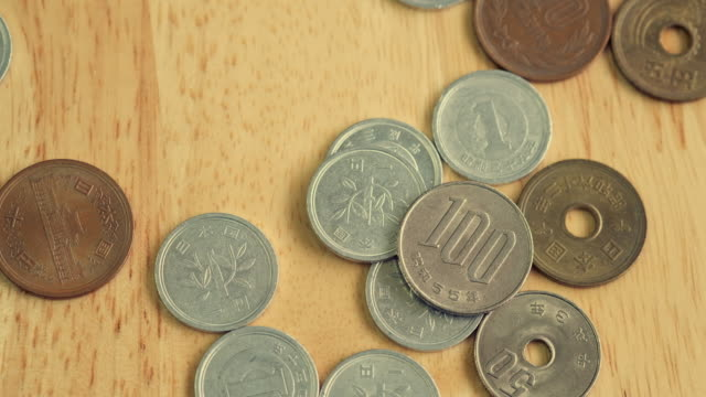 yen coin - fifty cent coin stock videos and b-roll footage