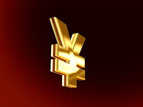 yen sign - yen symbol stock videos & royalty-free footage