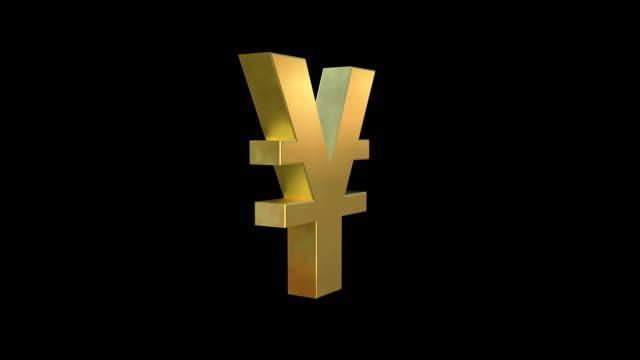 vidéos et rushes de symbole du yen - symbole du yen