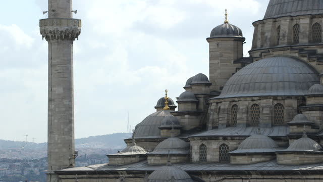 yeni cami mosque roof top - yeni cami mosque stock videos and b-roll footage