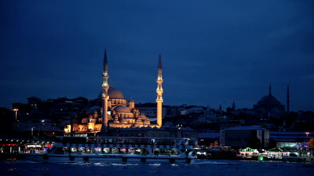 yeni camii in istanbul - istanbul stock videos & royalty-free footage