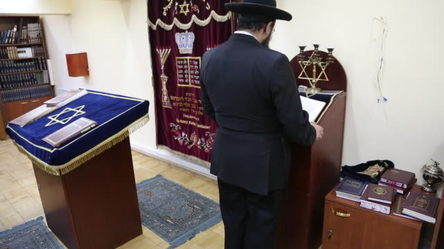 Yerevan, Rabbi prays in the central synagogue of Yerevan city
