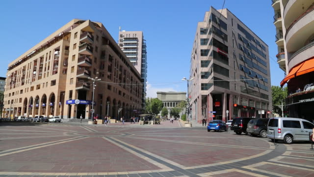 yerevan, the northern avenue, center of the city - eastern european culture stock videos & royalty-free footage