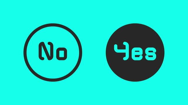 Ja of Nee - Vector animatie