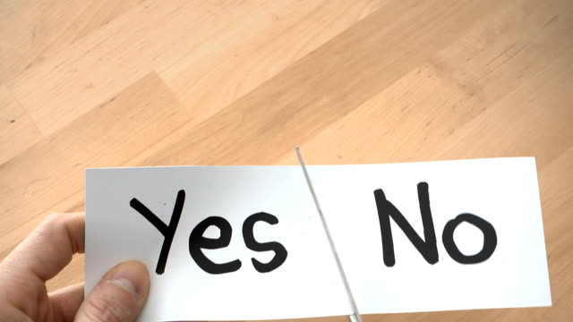 yes or no - cut video transition video stock e b–roll