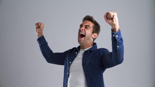 yessss!!! - studio shot stock videos & royalty-free footage