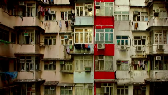 Yick Cheong Buildings in Quarry Bay, Hong Kong by Drone